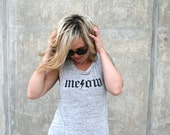 Meow Muscle Tee small women's