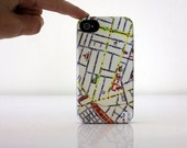 Tel Aviv map Phone case - I love TLV Map cover for Iphone and Galaxy, souvenir from Israel