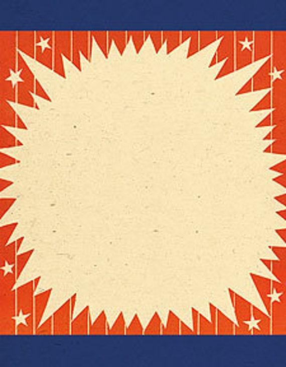 Vintage Stars and Stripes Postcard Border Background Texture