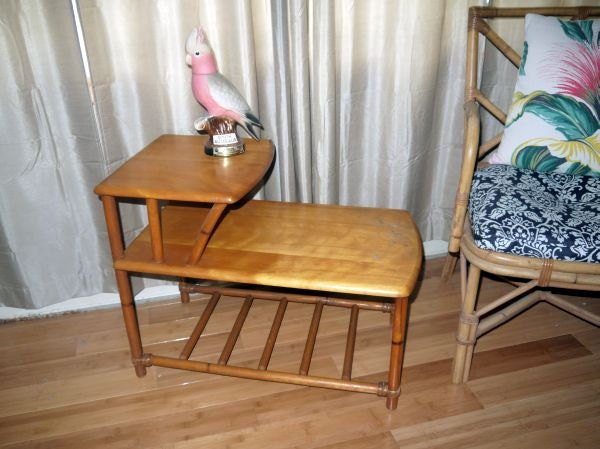Vintage 50s Heywood Wakefield End Side Table By