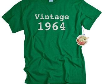 50th birthday gift for son 50th birthday shirt funny gift for guys funny t-shirt 50 birthday 1964 custom birthday gift tshirt tee men vt1964