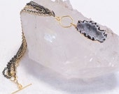 """Geode, Multi-Chain and Toggle """"Charm Bracelet"""""""
