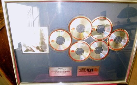 Six Platinum Record Award Plaque Atlantic Records WMG 600,000 Sold in Canada