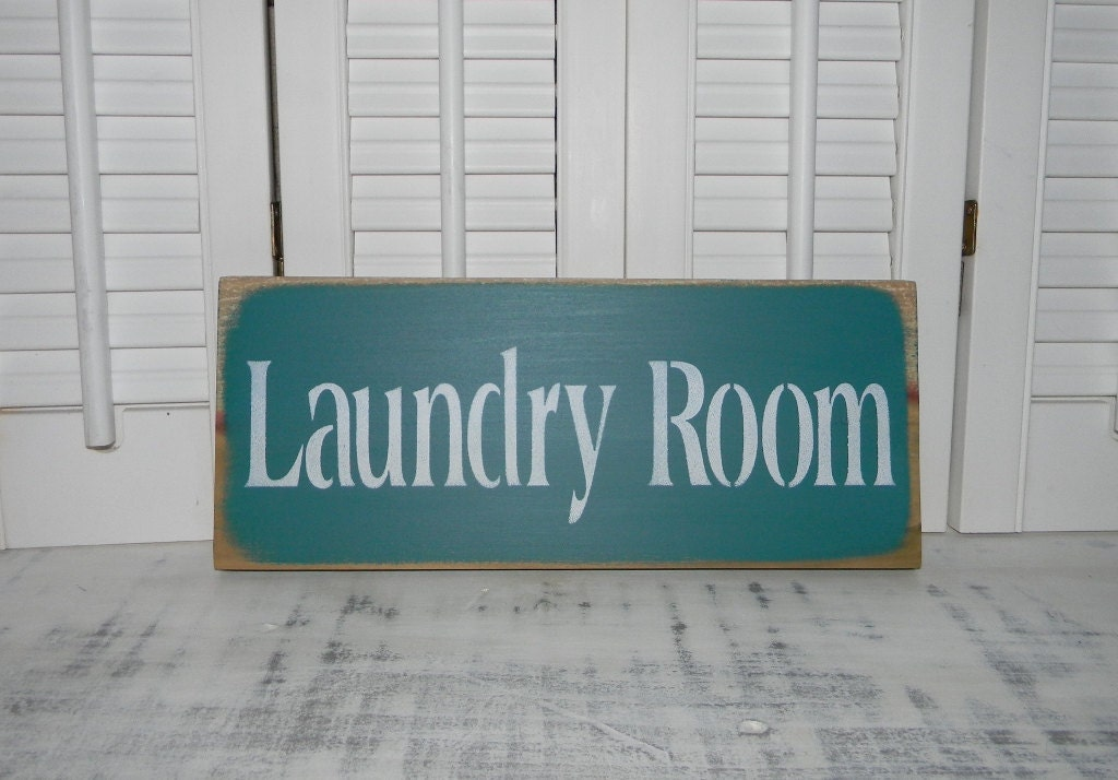 Laundry room sign wall decor country home decor signs for Sign decoration