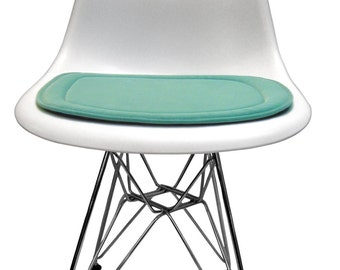 custom cushion for eames molded plastic side chair miracle fabric