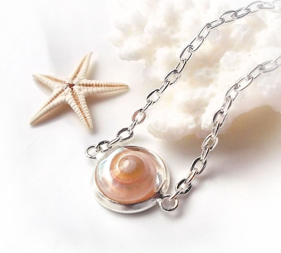 Make Your Own Seashell Jewelry: Seashell Necklace Small Pink Shell Necklace Dainty Necklace