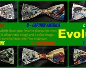 BowTies Made From Marvel Comics Fabric - 6 Great Looking, Hand-Sewn Hero Bow Ties - See Your Favorite Marvel Character Evolve 1.49 Shipping