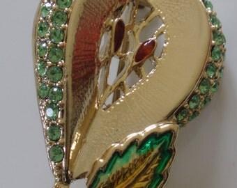 Signed Danecraft pear brooch