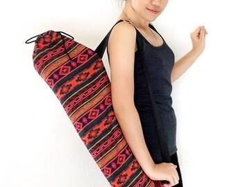 Handmade Yoga Mat Bag Yoga Bag Sports Bags Tote Yoga Sling bag Pilates Bag Pilates Mat Bag Woven Yoga Bag Women bag Woven Cotton bag (WF45)