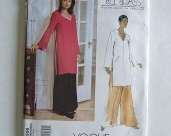 BILL BLASS  Vogue American Designer  Sewing Pattern 2593 Tunic & Pants size 8-10-12