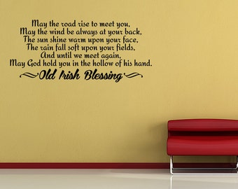 Irish Blessing Vinyl Wall Quote Decal Sticker Vinyl Home Saying (JR56)