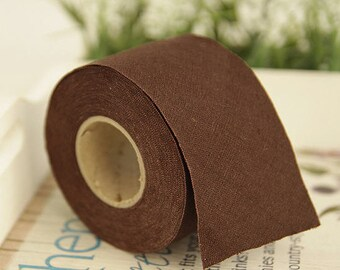 "2"" Linen Bias Tape in Brown 1 Roll 10 Yards 46207"