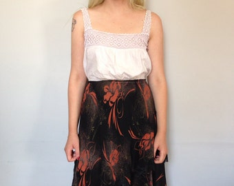 Gorgeous Rayon Skirt with Detailed Lace