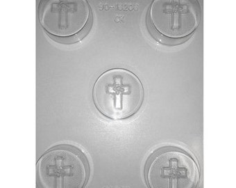 Cross With Rose  Sandwich Cookie Chocolate Mold