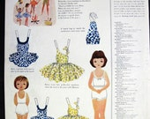 Betsy McCall Beach Picnic Paper Doll 1955 Magazine clipping