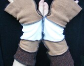 Fingerless Gloves Arm Warmers made from recycled jumpers sweaters - NicScolari