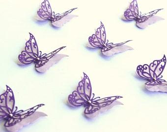 3D Butterflies, Paper butterflies, Purple Wall Decor, 3d butterfly wall art, wall butterflies, Butterfly Decor, Purple decorations