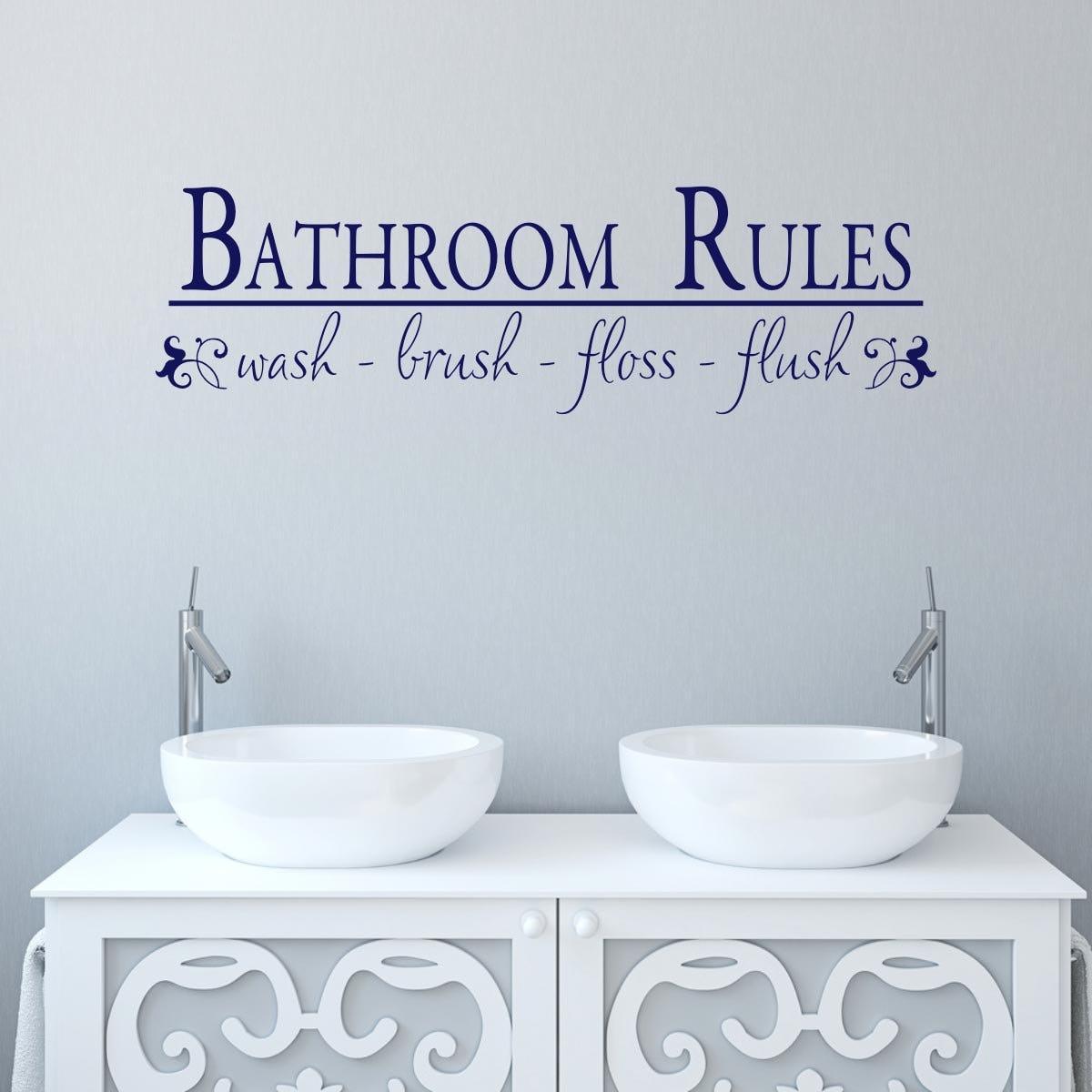 bathroom wall decal bathroom rules bathroom sticker bath