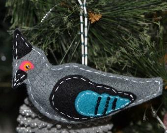 Unique Australian  Christmas Ornament - Crested Pigeon