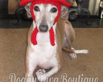 Dog Hat - Fireman Firefighter Hat for Dog or cat under 35 pounds / Photo Prop / Costume / Made to Order