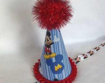 Mickey Mouse Inspired Birthday Party Hat (Free Personalization)