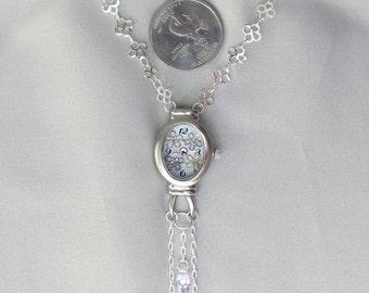 Springtime - Flower Necklace with Swarovski Crystals