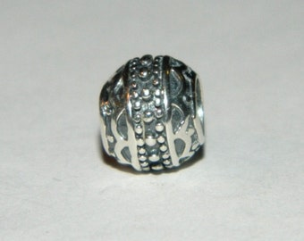 Sterling Silver Charm Dots 925 no0018
