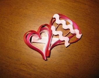 Sculptured Heart and Hot Air Ballon hair bow