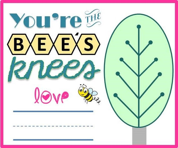 You Are The Bees Knees Double Wall Water Bottle Valentines ...  |The Bees Knees Valentine
