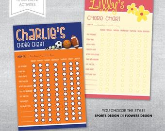 Chore chart notepad. Personalized chore chart.