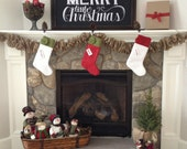 Modern Wool Felt Christmas Stockings, Unique and Elegant Holiday Stockings, Handmade, Colorful and Beautiful!