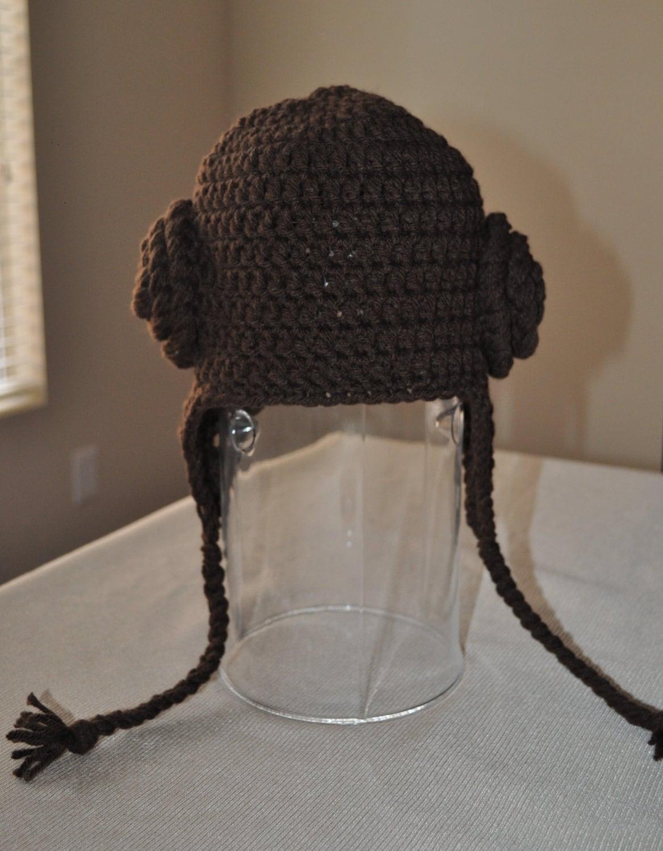 Items similar to Crochet Princess Leia Hat on Etsy
