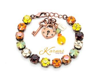 CORNUCOPIA 8mm Crystal Bracelet Made With Swarovski Elements *Pick Your Finish *Karnas Design Studio *Free Shipping*