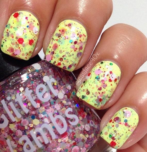 Cotton Candy Glitter Nails: Items Similar To Unicorns Love Cotton Candy Nail Polish