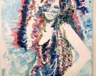 Pop Art Painting Janis Joplin Art by Matt Pecson Boho Decor Bohemian Decor Original Painting on Canvas Wall Art Gifts for Her MADE TO ORDER