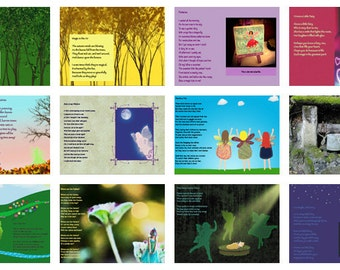 The Purple Book of Fairy Poems, Instant Download, Fairy Book, PDF ebook, Fairy Rhymes, Digital File, Last Minute Gift, Fairies and Magic