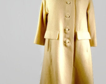 Vintage ILGWU Union Made Button Front Trench Coat Outerwear 1960's - SALE!