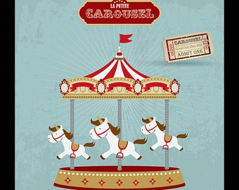 carousel clipart � etsy
