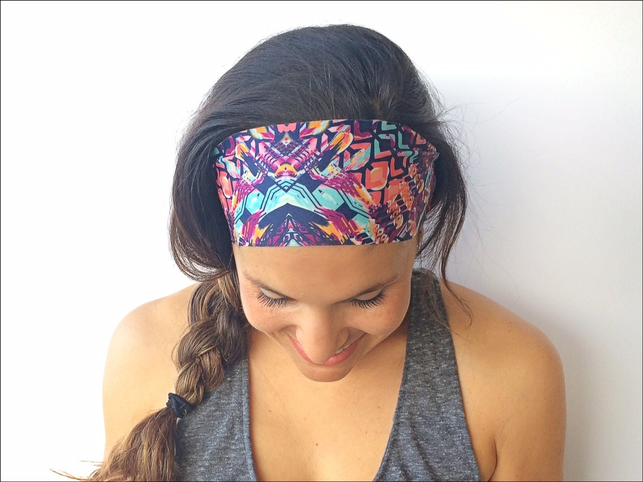 Yoga Headband Bali Print Running Headband Fitness