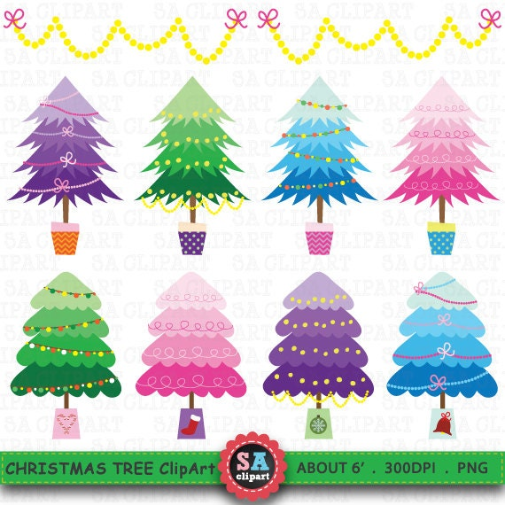 Items similar to christmas tree clipart quot