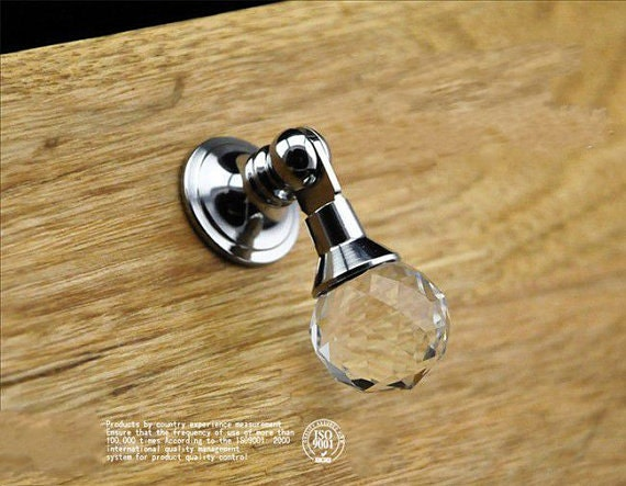 Drop Dresser Drawer Knobs Crystal Ball Pulls Handles Sparkly