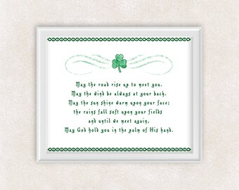 Irish Blessing Art Print - 8x10 PRINT Celtic Inspirational Quote - Wall Art - Item #718