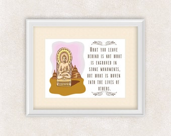 Buddha Quote Art Print - Inspirational Quote - Buddha Wall Art - 8x10 Print - Buddhist Art - Item #537B