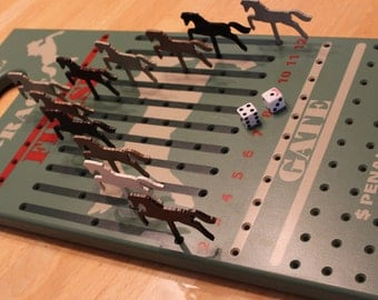 race horse board game with dice