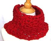 VALENTINE Cowl Pattern - 30 Minutes/1 Skein Crochet Scarf - Unisex Men Women Teens - Last Minute Gift