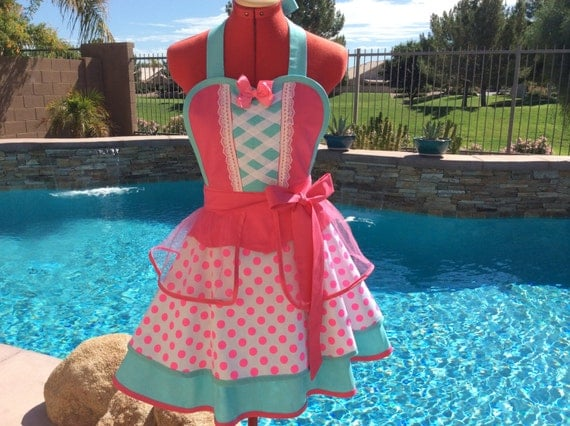Little Bo Peep Inspired Sassy Apron, Girls Aprons, Cosplay, Womens Plus Sizes, Retro Chic, Full, Pin Up, Dress Up Party Costume