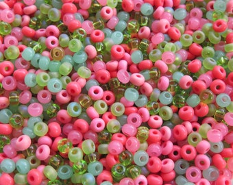 6/0 (1.00mm hole size) Tutti Frutti Mix Czech Glass Seed Beads 20 Grams (CS68)
