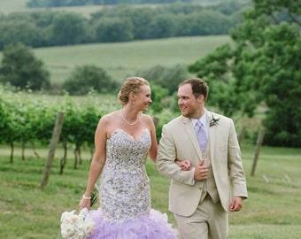 Dip dye wedding dress | Etsy