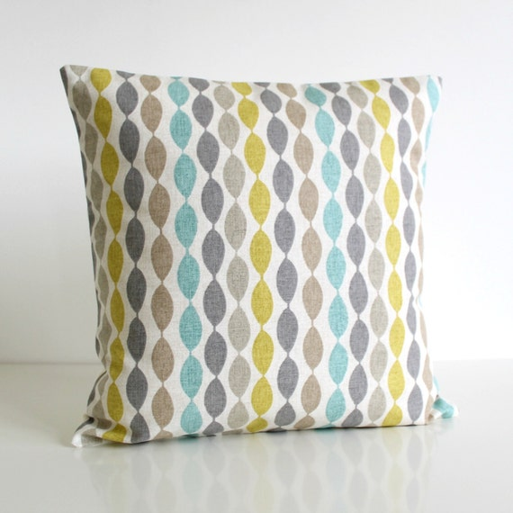 cotton pillow cover Decorative Pillow Cover 16x16 by CoupleHome