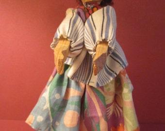 Tarahumara Native American Doll - Copper Canyon Mexico Wood Folk Art